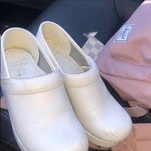 White clogs